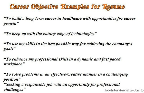 sample creative resume objectives
