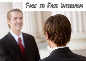 not in the face interview Job interviews are stressful, especially when you have hearing loss  you are not  required to state that you have hearing loss during an interview nor can  while  you can say that you prefer a face-to-face interview there's no.